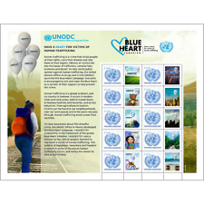 2018~UN PERSONALIZED SHEET~HUMAN TRAFFICKING VIENNA DATE IN MARGIN PRINTED WRONG