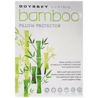 BRAND NEW Odyssey Living Bamboo Pillow Protector Waterproof, Dustmite Resistant