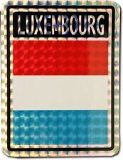 Wholesale Lot 12 Luxembourg Country Flag Reflective Decal Bumper Sticker
