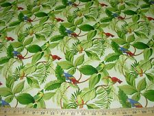 "~BTY~SWAVELLE MILLCREEK""BIRDS PARROTS""~COTTON DRAPERY UPHOLSTERY FABRIC FOR LESS"