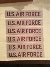 LOT OF 6 US Air Force Sew On  USAF Tapes Patches Khaki Desert BDU Uniform