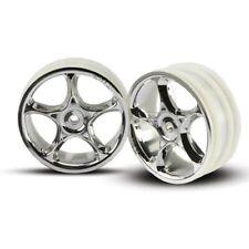 "Traxxas TRA2473 Chrome Tracer Wheels (2) 2.2"": Front Bandit VXL XL-5 XL5"