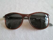 Penguin brown / blue frame sunglasses. The Logan.