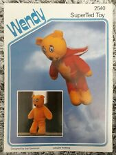 Wendy Super Ted Toy Knitting pattern By Joy Gammon