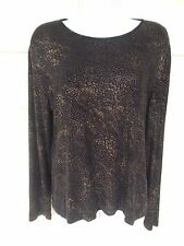 Chico's Long Sleeve Stretch Shimmer Blouse - Size 1