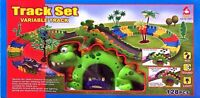 Flexible Variable Track Set 128 Pcs Children Dinosaur Style Kids Car Racing Game
