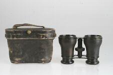 """Monopol Fernglas """"Optische Industrie-Anstalt"""" G.F.W. Grabich im Etui (ca. 1920)"""