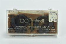 Vintage BUSHNELL UNIERSAL RIFLESCOPE MOUNT INSTRUCTIONS in ORIGINAL BOX  #09543