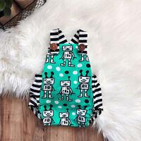 AU Newborn Baby Boy Girl Bib Romper Bodysuit Jumpsuit Backless Clothes Outfits