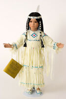 Silver Moon Native American Indian Princess Collectible Porcelain Doll