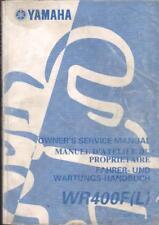 Yamaha WR400F, WR400FL,1998,1999 Fábrica Manual de taller, parte no. 5GS-28199-80