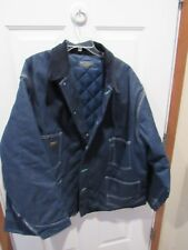 Oshkosh B'Gosh Blue Work Railroad Jacket Coat Quilted Liner size 4XL VGC NWOT