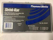 Thomas Amp Betts Shrink Kon Hs Kit Heat Shrinkable Kit 37 Assorted Sizes New