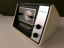 Vintage 1969 Panasonic RC-6121 AM/FM Clock Radio MCM Space Age Wedge WHITE