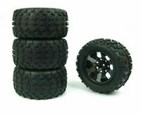 Truck Rubber Wheel Tires For 1/10 Off-Road RC Cars Hex Adapter 12mm D128mm 4pcs