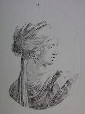 STEFANO DELLA BELLA ´JUNGE FRAU MIT TURBAN; YOUNG WOMAN´ DE VESME 183, ~1650