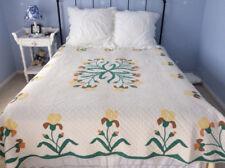 Antique Iris Applique Quilt- 1930's Anne Orr pattern