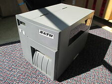 "SATO CL408E Direct Thermal Transfer Label Printer REWINDER 6"" Parallel 5.6 m !!!"