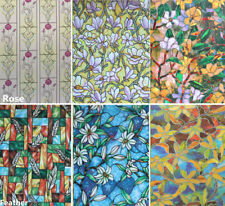 "Static Cling  Window Film Frosted Stained Flower Glass Sticker Privacy 18""X39"""