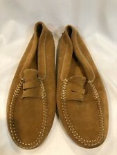 Tod's Tan Suede Penny Loafers Women's Size 9 (Fits more like a 10) VG Condition