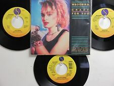 LOT OF 4 ' MADONNA ' HIT 45's+1PS[Crazy For You]   THE 80's!