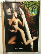 "VINTAGE ART POSTER Buds And Babes ""Roll Over"" Classic Weed Marijuana Sensual"