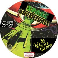 SPACE ADVENTURES COMIC BOOKS - 30 VINTAGE ISSUES - PDF ON DVD - SCIENCE FICTION