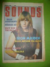 Sounds Music Paper - 04.10.86 - Iron Maiden, Husker DU, Iggy etc