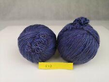 New listing about 450 yards of 100% merino wool knitting yarn purple blue