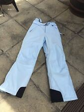 LADIES YOUTH COLUMBIA PALE BLUE SKI SNOWBOARD TROUSERS W28-32 L32'' SIZE 10/12