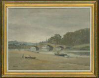 Mason - Signed & Framed Mid 20th Century Oil, By the River Axe