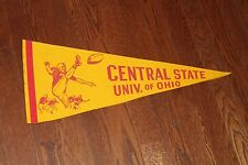 Vintage Central State of Ohio University Marauders full-size Football PENNANT