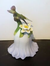 2000 Avon Flower Bell with Hummingbird