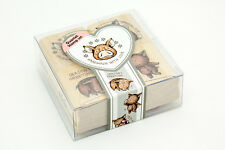 Quartet 4pcs Stamps Cute Pig Mounted Rubber Stamp Scrapbook Card Making Gift