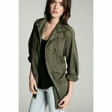 Hip Length Cotton Military Coats & Jackets for Women