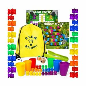 Counting Bears Math Manipulatives - Preschool Activities for Counting, Sortin...