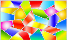 Stained glass style Mosaic Multi Colour window decor frost film