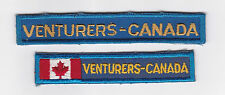 SCOUTS OF CANADA -  Extinct CANADIAN VENTURERS SCOUT NATIONAL FLAG STRIP Patch