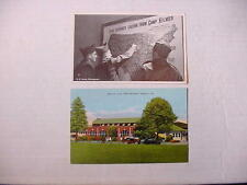 US WW2 and Korean War Era POSTCARDS Fort Benning & Camp Kilmer + FINE