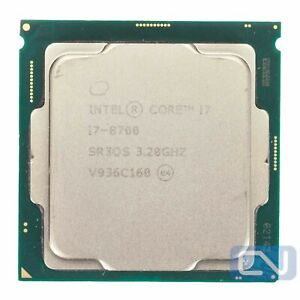 Intel Core i7-8700 3.2GHz 12MB 8GT/s SR3QS LGA1151 Fair Grade CPU Processor