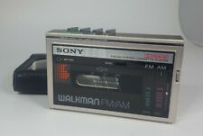 Vintage Sony WM-F10 II Walkman Cassette Player FM/AM Fully functional w case