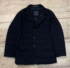 Men's TOMMY HILFIGER Blue Wool TL Flyn Blazer Down Jacket Size 52 M/L
