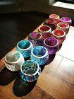 Mosaic Amber Glass Candle Holder Romantic Votive Tea Light Wedding Party