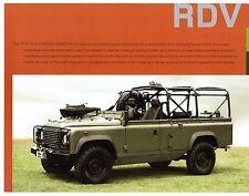 Land Rover Defender Military RDV Conversions 2007-08 UK Market Leaflet Brochure