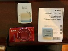 Powershot Canon SX600 HS 16 Mega Pixel Red Camera - Perfect Condition