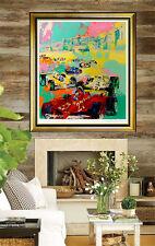 LeRoy NEIMAN Serigraph Original Large Grand Prix F1 Racing Signed Color Artwork