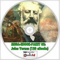☝ MEGA EBOOK PAKET 02 Jules Verne 120 eBooks Science Fiction CD MENÜ Roman Neu