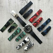 20mm Rubber Silicone Watch Strap Band For ROLEX Oysterflex / Submariner / GMT