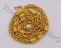 HANDMADE 22KARAT YELLOW GOLD MEN'S WOMEN'S GORGEOUS BYZANTINE CHAIN NECKLACE