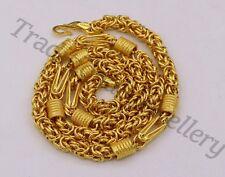 HANDMADE 22KARAT YELLOW GOLD MEN'S WOMEN'S GORGEOUS BYZANTINE CHAIN NECKLACE